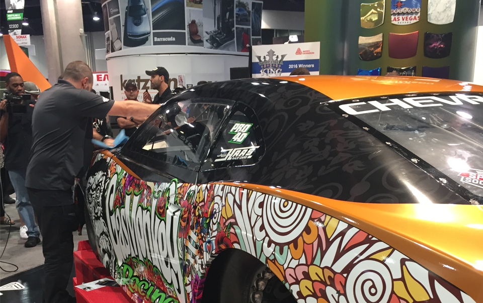 Vinyl wrap graphics trade shows